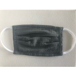 Muslin Mouth and Nose Mask in Olive - Age 3-7 Years