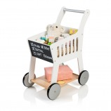 Wooden Shopping Trolley Rubus in White