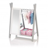 Doll Wardrobe Barlia in White/ Grey