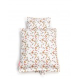 Doll Bedding with Butterfly in White