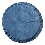 Playmat with Ruffles Velvet Deep Blue