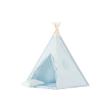 Teepee Set Plain Blue