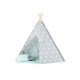 Teepee Set with Stars and Mint Mat