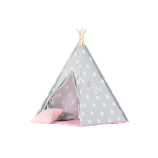 Teepee Set with Stars and Pink Mat