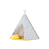 Teepee Set with Stars and Yellow Mat