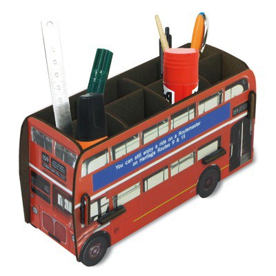 stiftehalter london bus. Black Bedroom Furniture Sets. Home Design Ideas